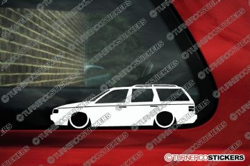 2x Low car outline stickers - for Volkswagen VW Passat B3 (35i) estate variant kombi
